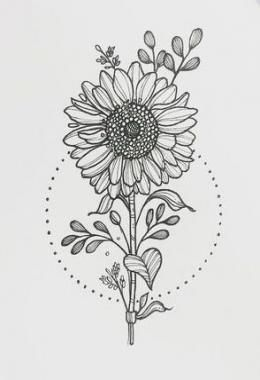 Best tattoo sunflower leg ink Ideas