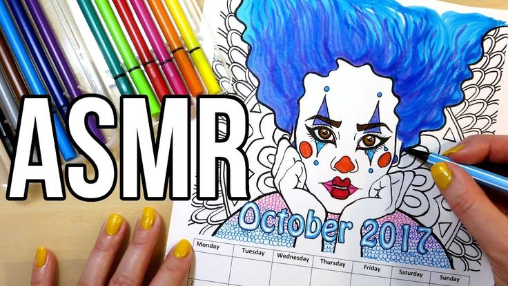 ASMR Coloring with Markers No Talking. ASMR coloring with markers, no talking. 40 min of real time coloring with highlighter markers, pens and fineliners. Sounds of opening and closing marker lids, coloring sounds, drawing sounds and tapping.