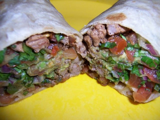 Carne Asada Burritos w/ Guacamole and Pico De Gallo  --Actually looks good!