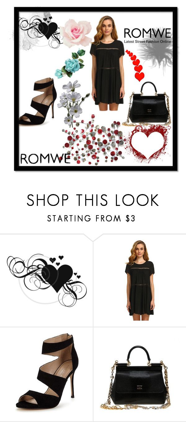 """ROMWE"" by mirnesa-mirha ❤ liked on Polyvore featuring Carvela and Dolce&Gabbana"