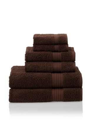 55% OFF Savannah by Chortex 6 Piece Towel Set, Chocolate