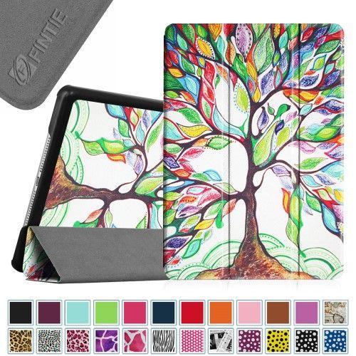 Fintie Apple iPad Air 2 Case - Ultra Slim Case Standing Cover for Apple iPad Air 2 (iPad 6) Sleep/Wake, Love Tree
