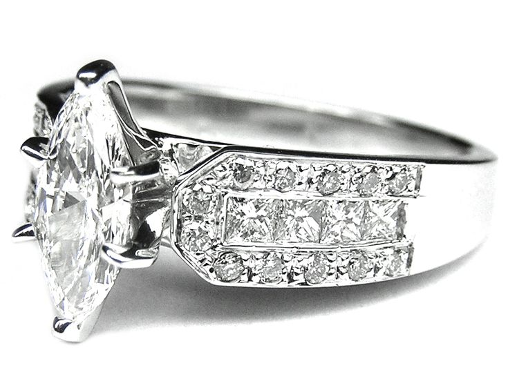Marquise Diamond Vintage Engagement Ring jewelry