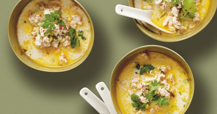 Warm up with this hearty Thai chicken broth.