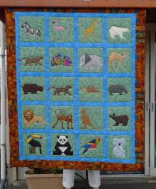 from 『A Quilter's Ark/Paper Pieced Quilt