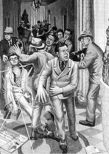 1935: US Senator Huey Long of Louisiana is assassinated at the State Capitol in Baton Rouge on September 8. The assassin is physician Carl Weiss, who shot Long to avenge the gerrymandering  of his father-in-law out of a judgeship. The murder silenced one of America's most outspoken and controversial political figures, revered by some as a champion of the poor and reviled by others as a dictator.
