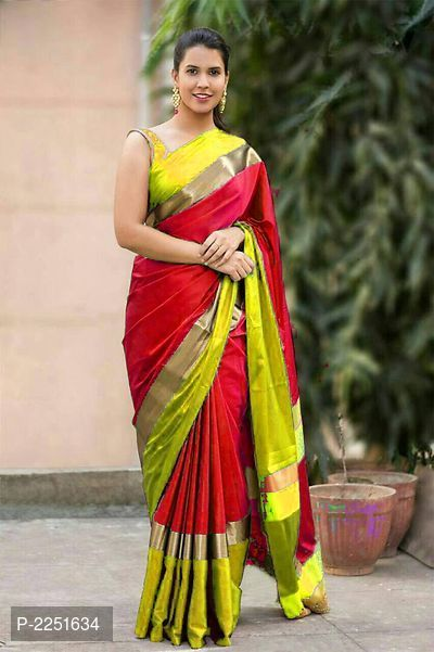 36aa92978c132 Women s Party Wear Pure Soft Cotton Silk Saree With Blouse