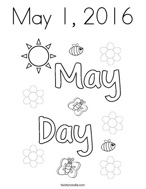 may day coloring pages - photo#24