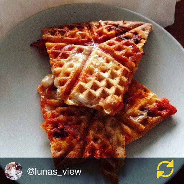 Unser Lieblings-Restetrick: Pizza-Stücke vom Vortag im Waffeleisen aufwärmen. So werden Sie außen knusprig und der Käse wird wieder schön flüssig. @lunas_view hat den Trick schon ausprobiert. Wer noch? #regramderwoche #yumtamtam
