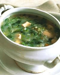 I made this without the rice: http://www.foodandwine.com/recipes/escarole-soup-with-chicken-and-rice
