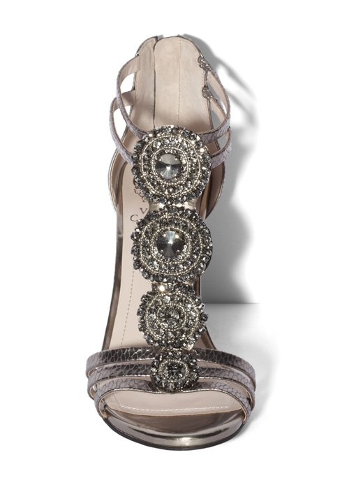 """Vince Camuto """"Zimily"""" silver wedge sandals"""
