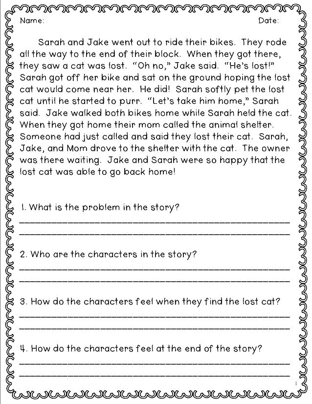 Short passages for second grade that give students the opportunity to practice answering in complete sentences.
