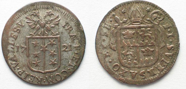 1721 Schweiz - Wallis Swiss VALAIS Sitten Batzen 1721 FRANZ JOSEPH SUPERSAXO billon XF! # 95101 EF