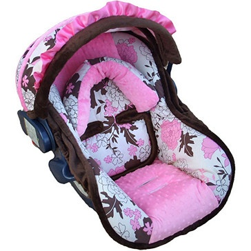 baby pink tessa car seat cover cute baby girl stuff pinterest infant car seat covers. Black Bedroom Furniture Sets. Home Design Ideas