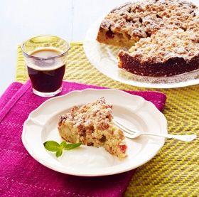 En superlækker tærte med friske rabarber