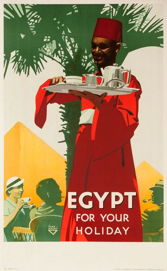 1937 Egypt vintage travel poster