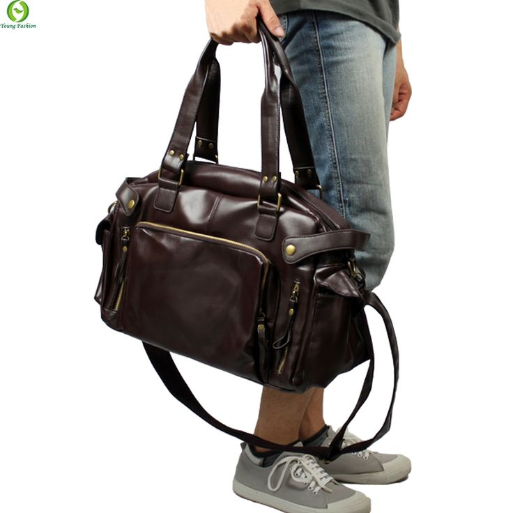 New Fashion Multifunction Mens PU leather  Travel Bags Brand Waterproof Vintage men messenger bags high quality shoulder bags -- Want additional info? Click on the image.
