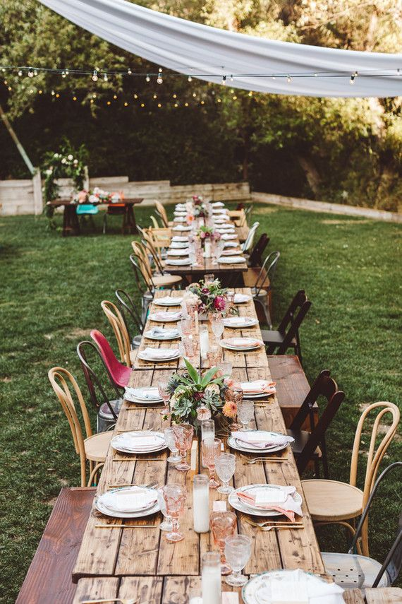 Southwest bohemian wedding with a rustic tablescape