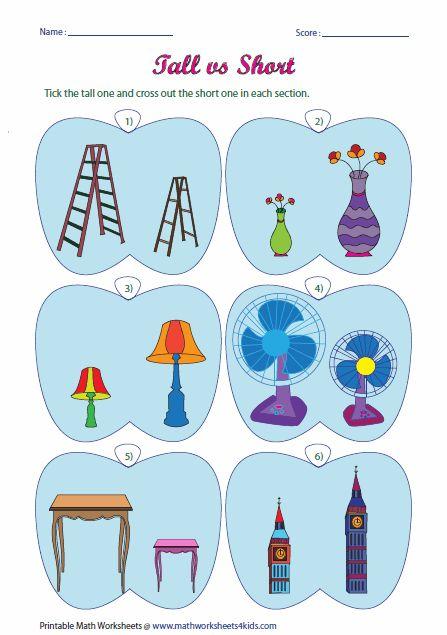 1000+ images about Size Comparison on Pinterest | Kids worksheets ...