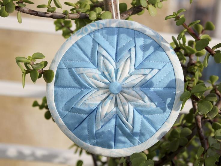 87 best Folded fabric ornament images on Pinterest  Folded fabric