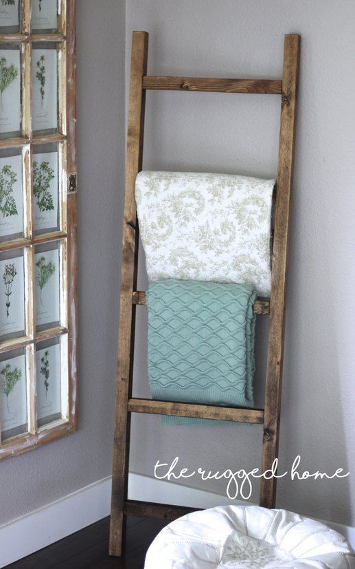 Easy Rustic Ladder, DIY Ladder, How To build a rustic ladder easy, Build a ladder fro under 7 dollars, rustic furniture builds                                                                                                                                                                                 More