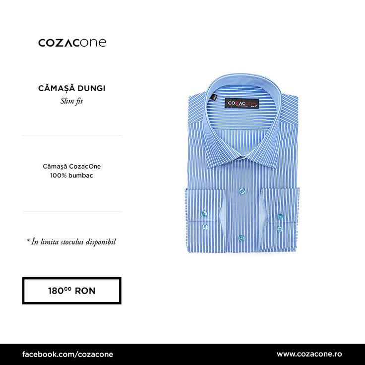 O cămașă în dungi albe și albastre te duce cu gândul imediat la vară: http://www.cozacone.ro/produse/detalii/camasa-dungi-harbour-blue/