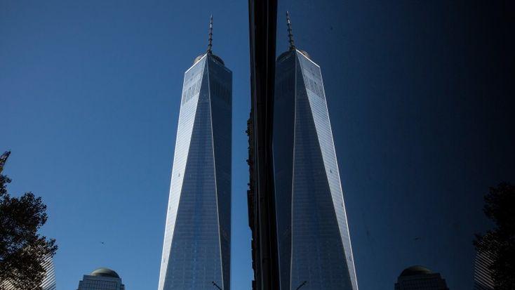 A primeira torre tem 1776 pés de altura. Uma homenagem ao ano da Declaração de Independência dos EUA # Getty Images
