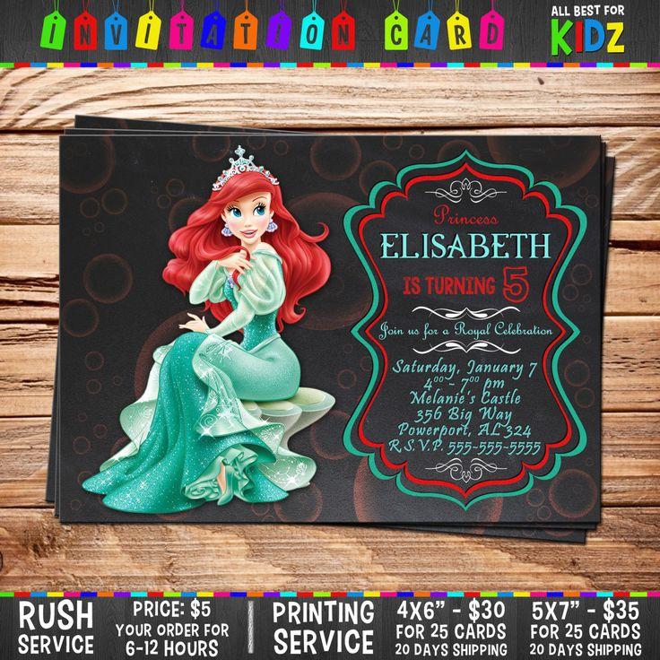Disney The Little Mermaid Invitation card par AllBestForKidz