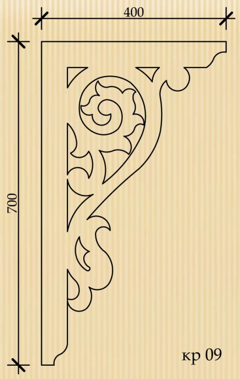 Каталог / Тульский узор Stencil for door or verandah corner trim ??