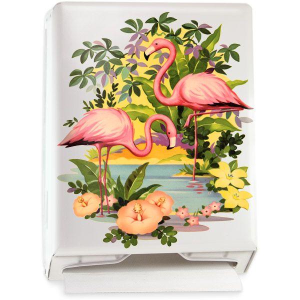 Flamingos Paper Towel Dispenser