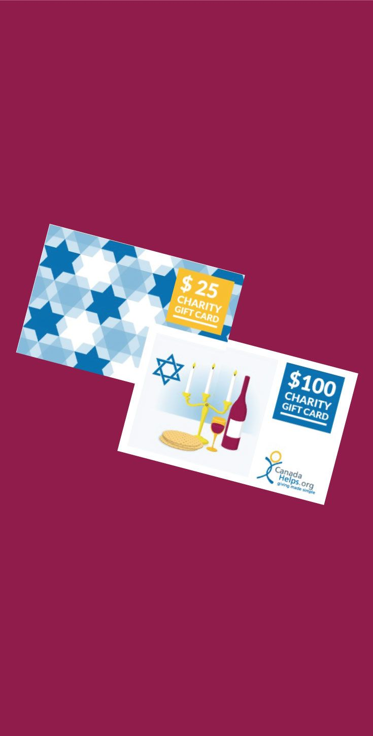 Have you seen our #Passover Charity Gift Cards? A great way to celebrate! #CanadaHelps #GivingMadeSimple
