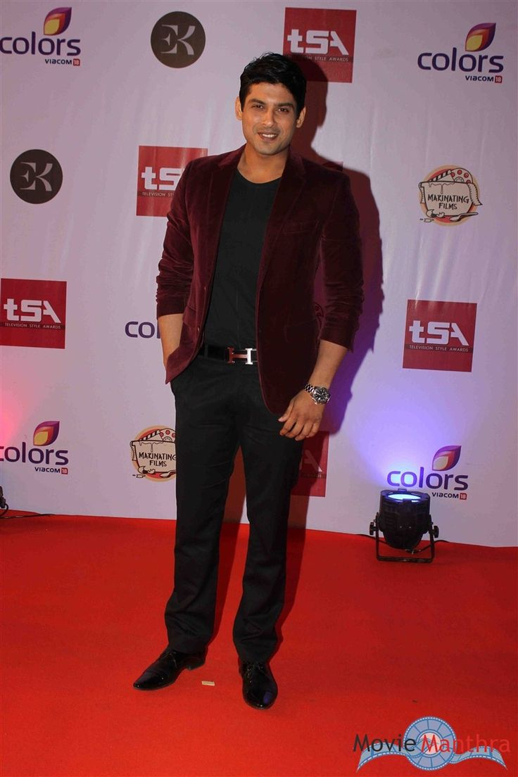Siddharth Shukla in Television Style Awards 2015