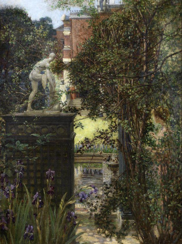 artoftheordinary:  Edith Corbet (British, 1846 - 1920) - A London Garden, 1911