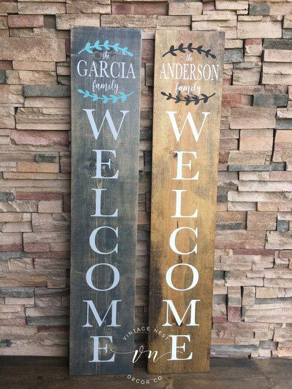 Porch Signs Welcome Sign Personalized Porch Sign Family Etsy Porch Signs Wooden Welcome Signs Diy Wood Signs