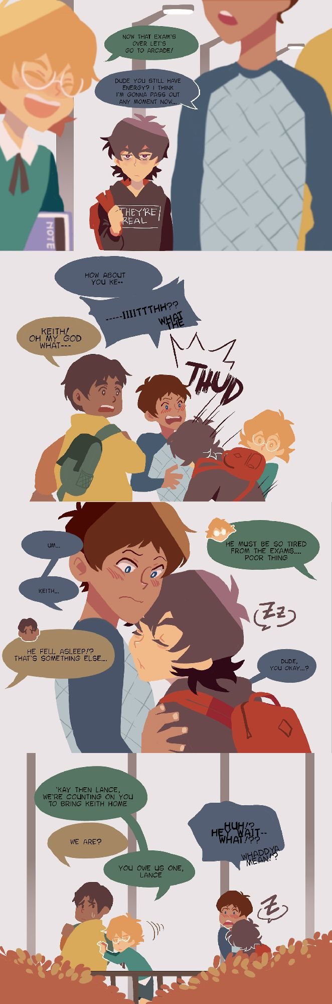 Keith / Lance | Pidge | Hunk **marchingspace**