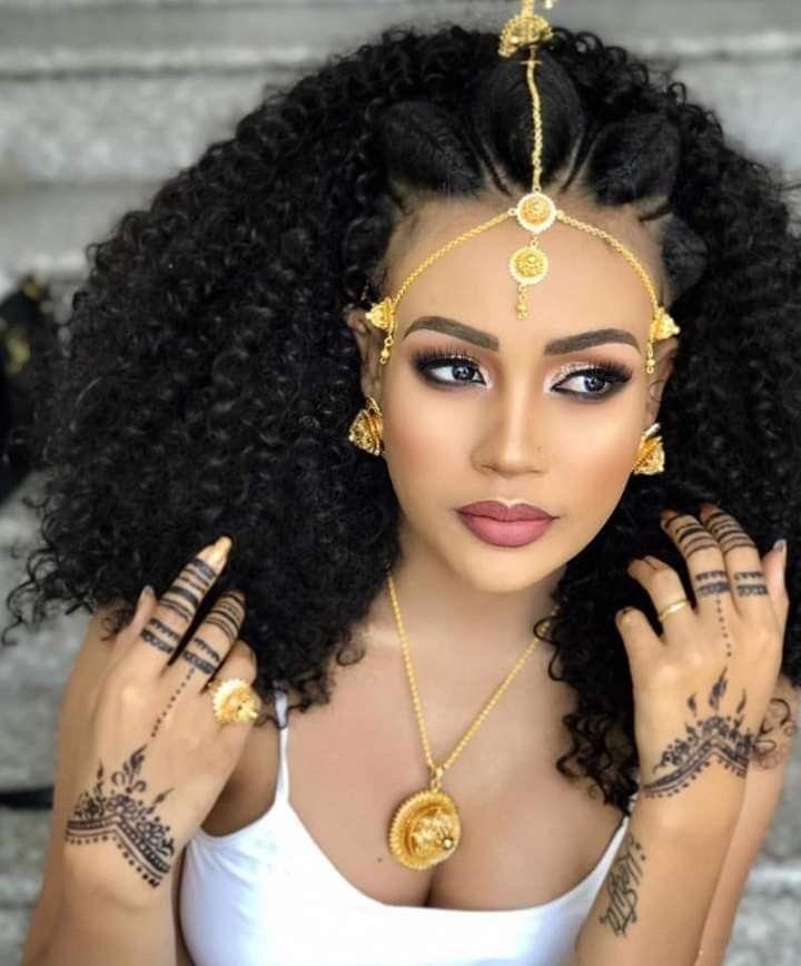 Habesha In 2020 Ethiopian Hair Ethiopian Beauty Ethiopian Braids