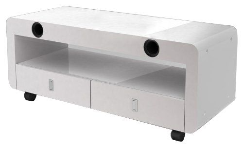 nesx ne4000b meuble tv hifi amplifi bluetooth blanc nesx. Black Bedroom Furniture Sets. Home Design Ideas