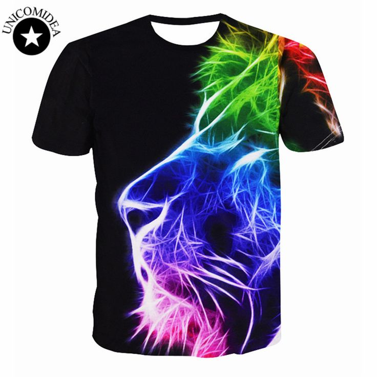 New Fashion Women Men Hip Hop T Shirt 3d Animal Printed Lion Head T Shirt Mens 3d T-shirt T Shirt Homme Brand Clothing For Men #women, #men, #hats, #watches, #belts, #fashion, #style