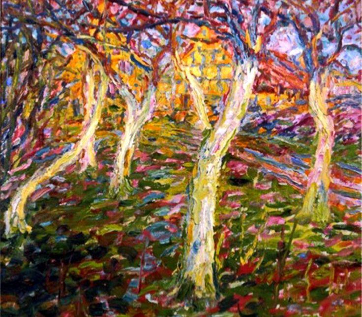 elpasha71: Emil Nolde - The white trunks, 1908, oil on canvas, Brücke-Museum, Berlin