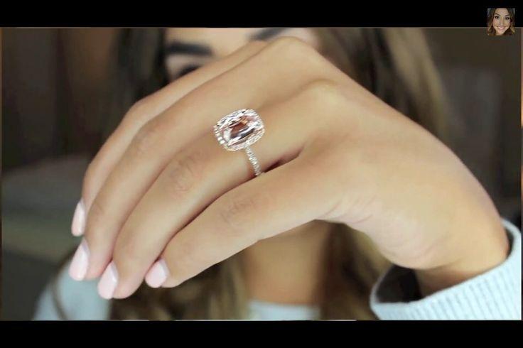 3 carat morganite halo ring with rose gold Alexandrea Garza s engagement