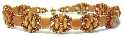 """This is Deb Roberti's """"Silky Stacker"""" made with Honeycomb beads."""