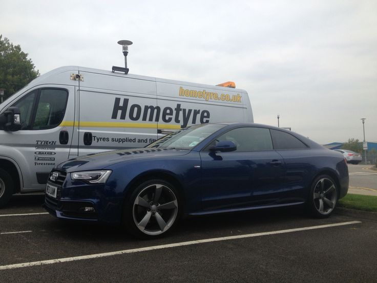 """Love this colour, Audi A5 on 20"""" rims, fitted while owner is in the office  http://www.hometyre.co.uk/mobile-tyre-fitting/mobile-tyre-fitting-sheffield/"""