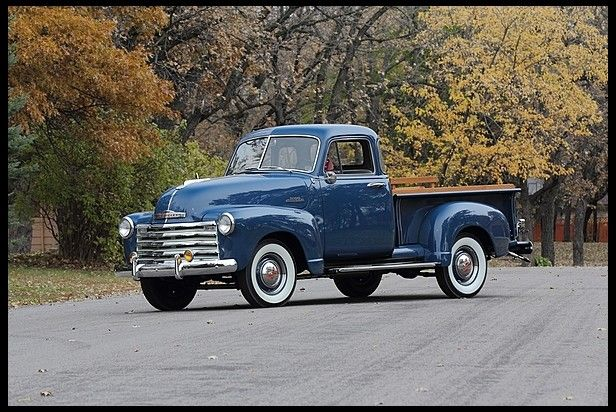 "1953 Chevrolet 3100 Pickup 235 CI - The 1st non-tractor vehicle I was ever responsible for maneuvering.  I was 8.  My father was quite annoyed that I ""wasn't driving yet.""  Ours was a rural life, with 10 miles between us & a doctor or emergency room, so it was past time for me to ""step-up.""  The problem was I just couldn't see well enough outside the vehicle.  Didn't get glasses until  I was 11.  They helped quite a lot."