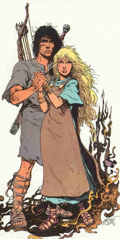 Thorgal and Aaricia.