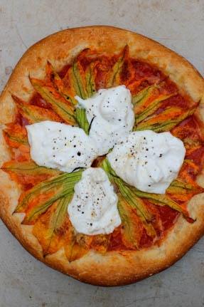 Squash Blossom Pizza with Burrata | Pizza My Heart | Pinterest ...