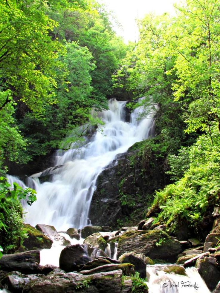 Torc Waterfall at Killarney National Park in Ireland.  Photo by Travel Fearlessly