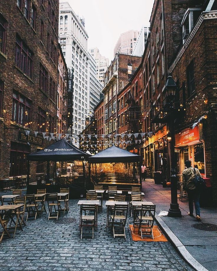 Stone St Financial District NYC by Jason Lee by newyorkcityfeelings.com - The Best Photos and Videos of New York City including the Statue of Liberty Brooklyn Bridge Central Park Empire State Building Chrysler Building and other popular New York places and attractions.