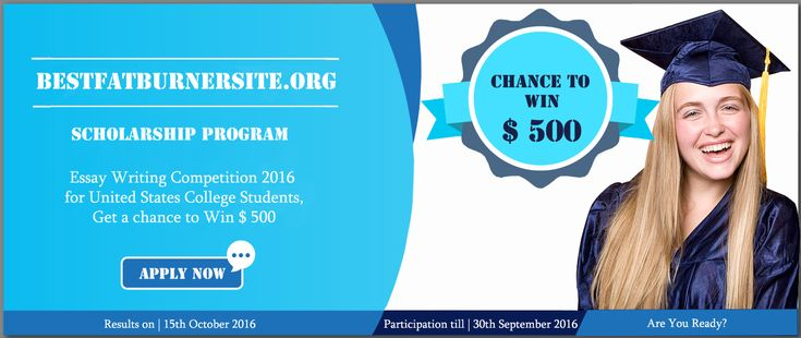 #BestFatBurnerSite.Org is conducting a scholarship program this 30th September 2016. Essay writing competition with reward price $ 500. Apply soon.   #scholarship #scholarshipprogram #Financialaid #unitedstates #30thseptember2016