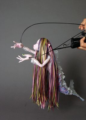 Marionette mermaid - Marionette mermaid --- #Theaterkompass #Theater #Theatre #Puppen #Marionette #Handpuppen #Stockpuppen #Puppenspieler #Puppenspiel