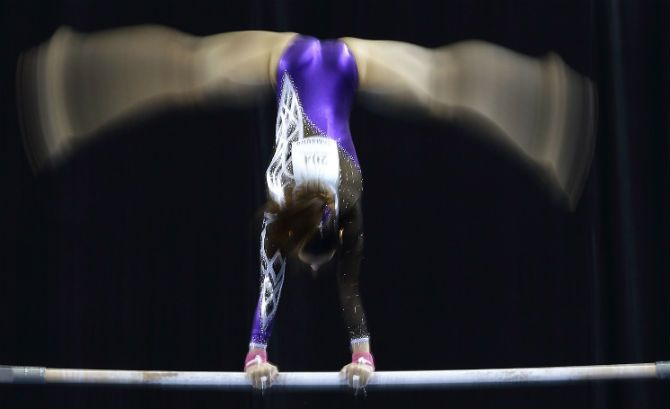 Farah Ann Abdul Hadi's Leotard Has Earned Her Criticism From Muslim Community For Being Too Revealing #faraannabdulhadi #gymnastics #muslim